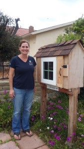 Christine Bride and her Little Library